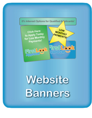 Consumer Finance Website Banners